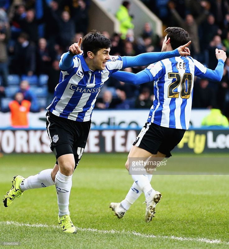 Fernando Forestieri of Sheffield Wednesday celebrates his goal during the Sky Bet Championship match between Sheffield Wednesday and Brentford at Hillsborough Stadium on February 13, 2016 in Sheffield, United Kingdom.  (Photo by Matthew Lewis/Getty Images)