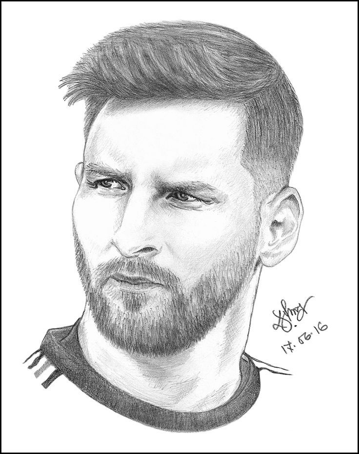 Image result for messi face sketch