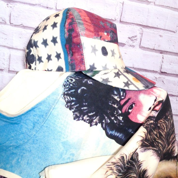 Купить Дизайнерская джинсовая бейсболка, абстрактный рисунок - белый фон, кепка женская, бейсболка
