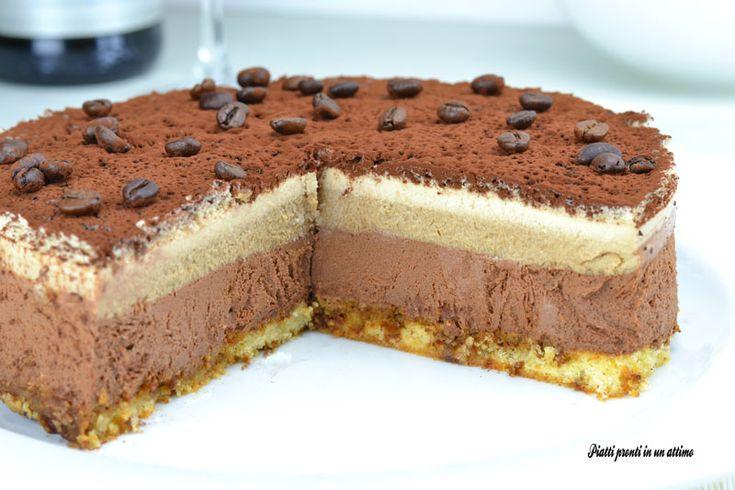 Semifreddo al cioccolato, caffè e panna