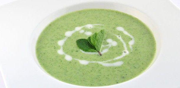 supersnelgezond.nl - Broccoli munt soep - Ook lekker met geitenkaas!
