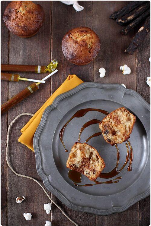Muffins à la cannelle et pépites de banane