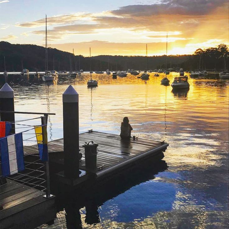 Sitting on the dock on the bay @tidesreachpittwater 📷@alecsutton                    https://www.airbnb.com.au/rooms/15638612