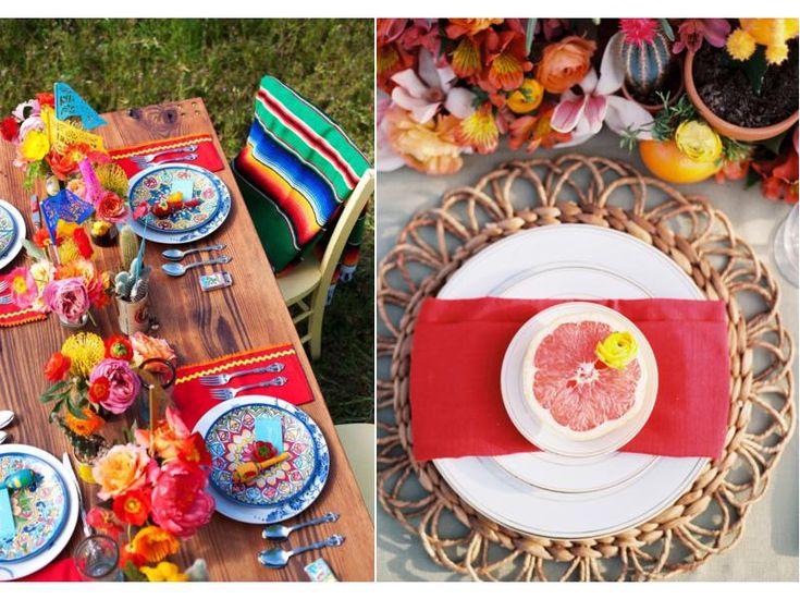 Сервировка стола для дня рождения в мексиканском стиле