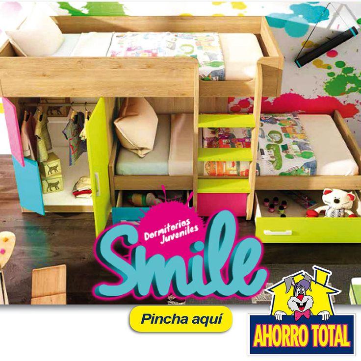 Descubre nuestro nuevo catálogo de Dormitorios Juveniles SMILE http://www.ahorrototal.com/…/content/24-juveniles-a-la-carta  Crea tu propia composición, fabricamos tu dormitorio con los colores y las piezas que quieras. ¡Diseña el Tuyo!  #dormitorio #Muebles #Juveniles