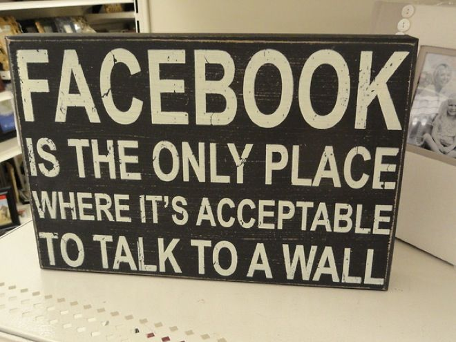 It's okay to talk to a wall! ;)