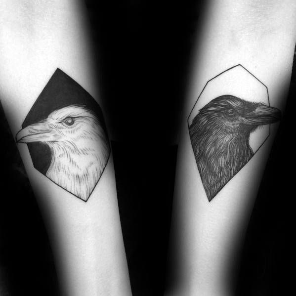 60 Odin's Ravens Tattoo Designs For Men – Huginn and Muninn Ideas
