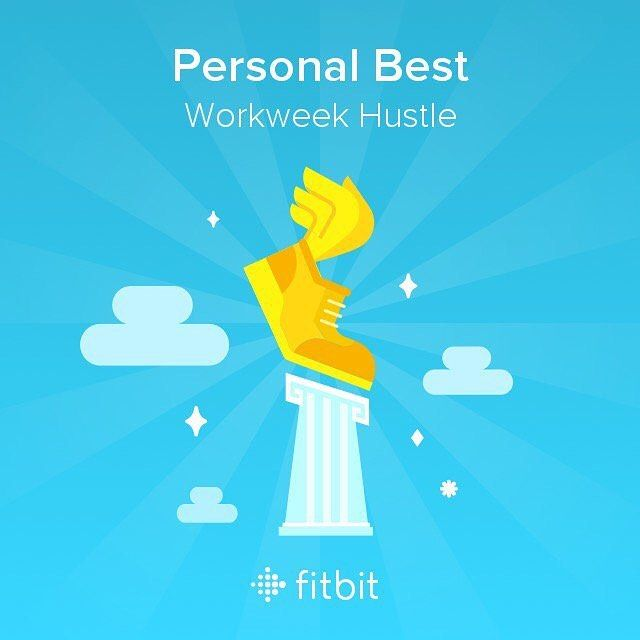 Beat my personal record with 53293 steps in the Workweek Hustle challenge!  #Fitbit @fitbit #definebrave #sweatpink