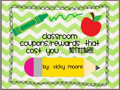 FREE  Classroom coupons/rewards  * from traditionslaughter on TeachersNotebook.com -  (13 pages)