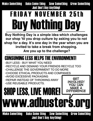 buy nothing day Introducing buy nothing christmas »» learn about buy nothing christmas here this christmas we'll be swamped with.