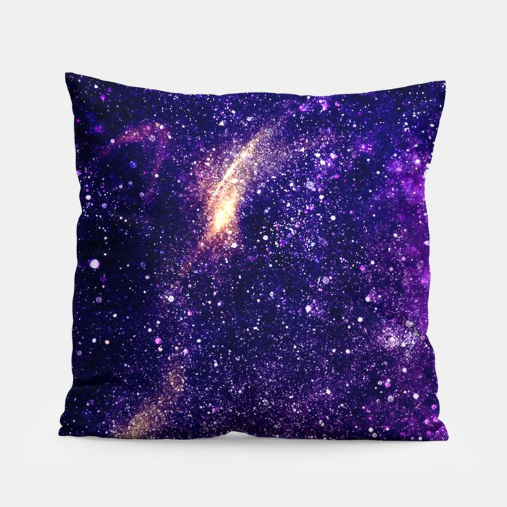 Ultra violet purple abstract galaxy Pillow, Live Heroes