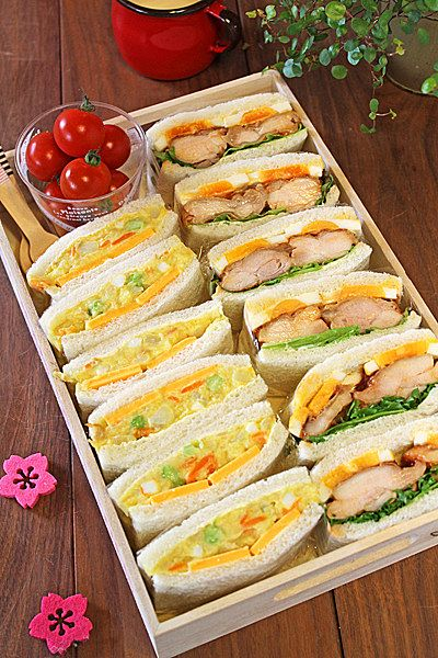 サンドイッチ弁当は見た目が豪華でおかずもいらないので、時短したい時にぴったり!