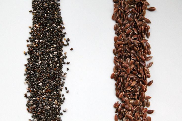 Chia-Samen und Leinsamen im Vergleich   Projekt: Gesund leben   Clean Eating, Fitness & Entspannung