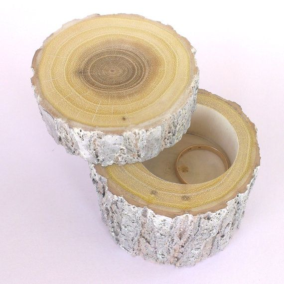 Painted Log Ring Box, Proposal Ring Box, Wedding Gift Box, Ring Pillow, Wooden Ring Boxe, Wedding, Jewelry Box, Gift Box, Rustik Weding,