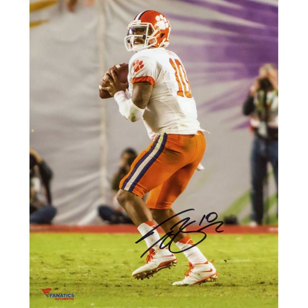 """Tajh Boyd Clemson Tigers Fanatics Authentic Autographed 8"""" x 10"""" Orange Bowl Drop Back Pass Photograph - $39.99"""