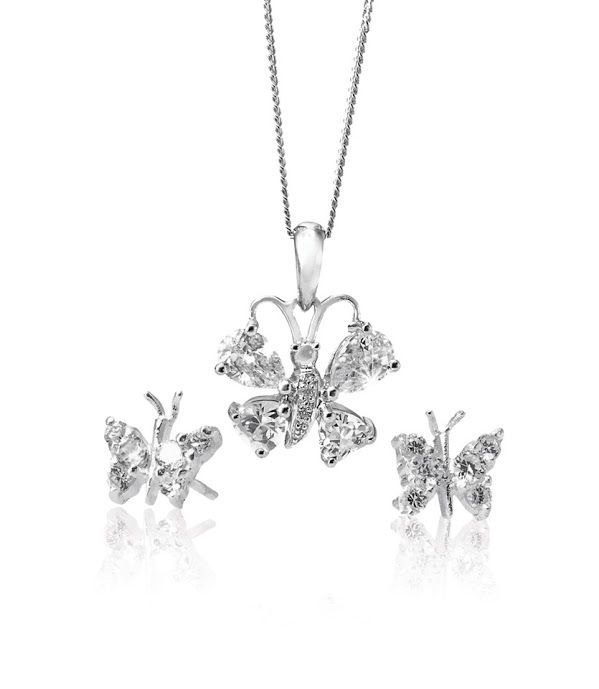 Silver and Cubic Zirconia Pendant R598 and Earrings R239  *Prices Valid Until 25 Dec 2013