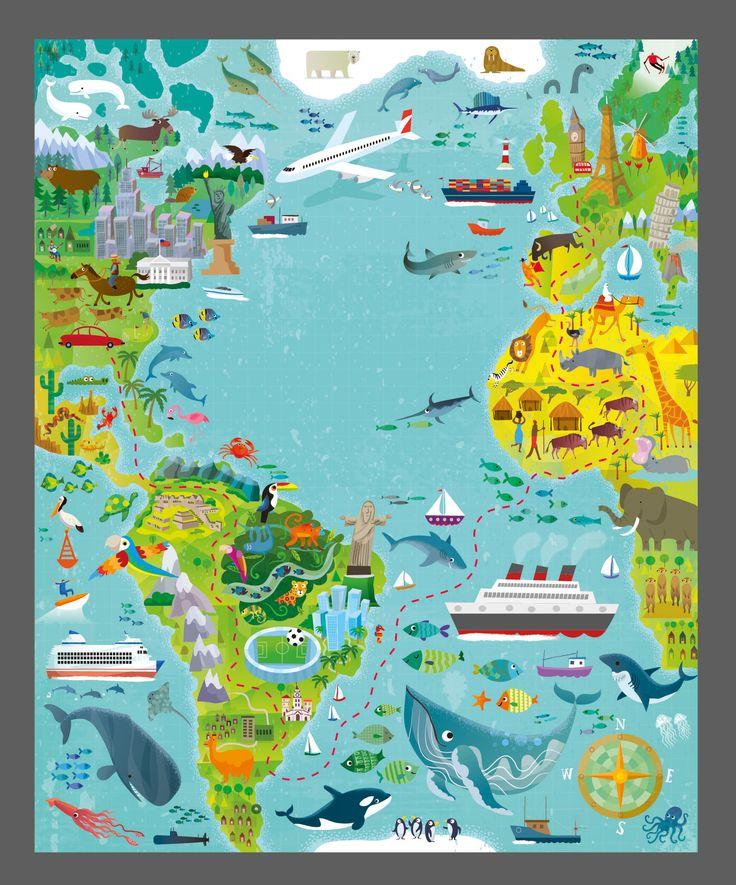 Usborne Map Maze Book - Gareth Lucas #map #maze #puzzle #puzzlebook #activitybook #childrensbook #illustration #kidlitart #kidlitartist #kidlit #geography #culture #globe #earth #garethlucas