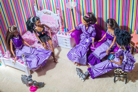 Real Wedding Album: Nigerian Barbie and Ken! Complete With Itty-Bitty Louboutins AND a Money Dance! You've Gotta See This!