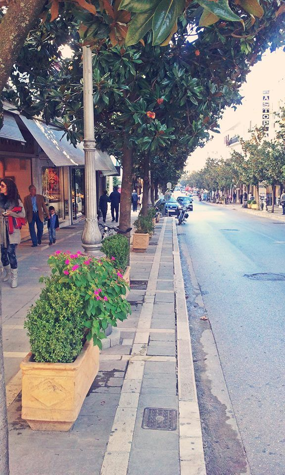 The street outside my store.. AVEROF 3 G  IOANNINA city GREECE