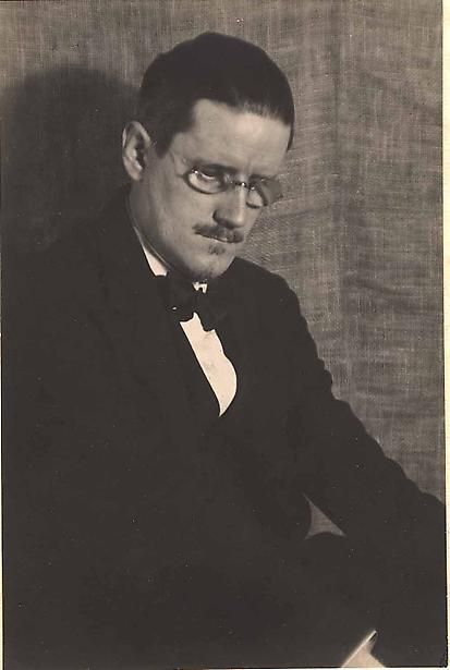 Author James Joyce photographed by Man Ray, 1922.