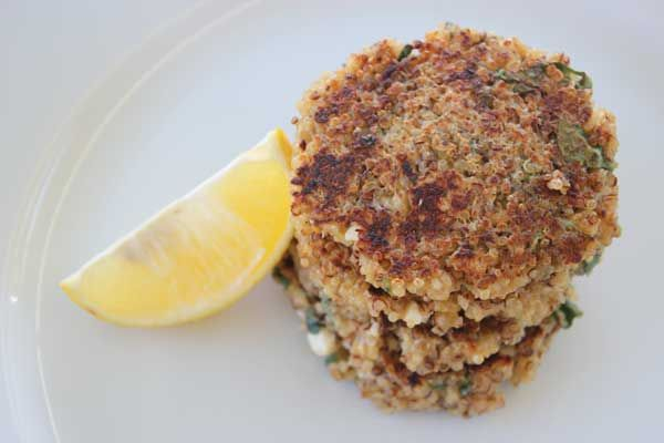 Brighten up your leftover plain quinoa with zesty lemon and herbs and fry for a fun and healthy burger treat.