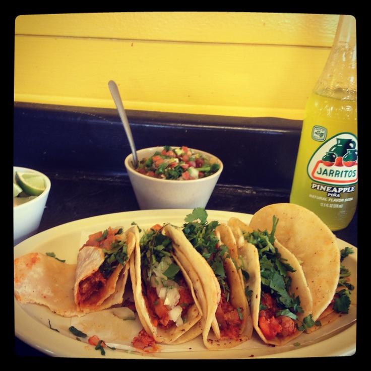 El pastor tacos ! Pork and pineapple. Courtesy of El Taconazo .