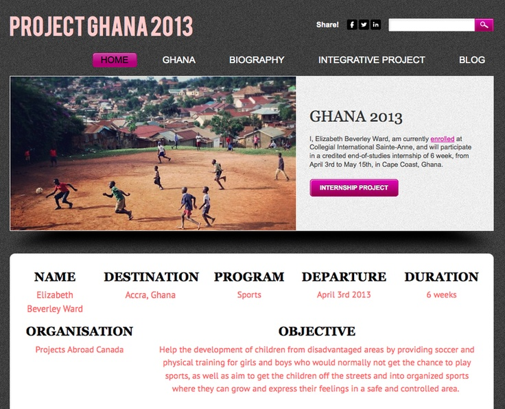 Elizabeth Ward - Soccer teaching in after-school sports programs - Cape Coast - Ghana
