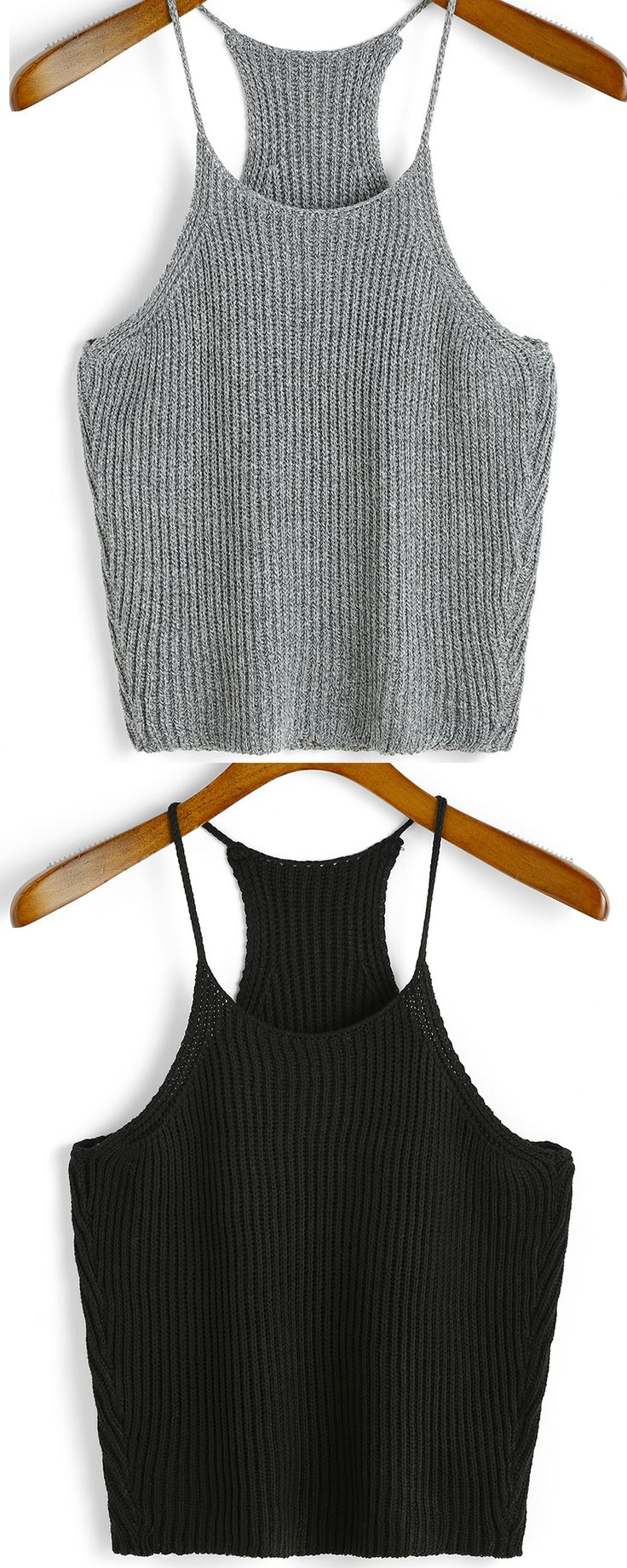 Super soft strap knit cami tops at romwe.com. Just love both of two colors!
