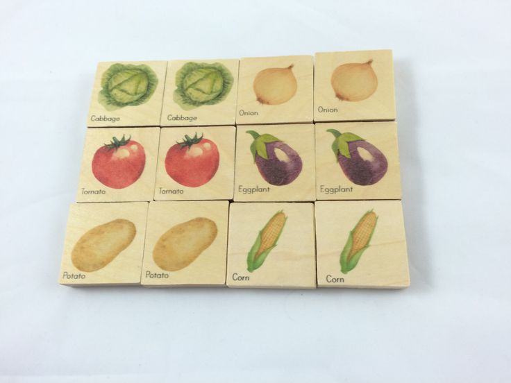 Wooden memory game, vegetable memory game, farm game, montessori game by MirusToys on Etsy https://www.etsy.com/listing/469747353/wooden-memory-game-vegetable-memory-game
