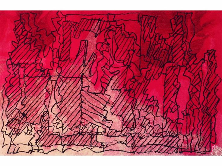Red RUG by Frank Gehry for Ferreira de Sá Rugs   Archiproducts   $8000 8.5 x 5.5