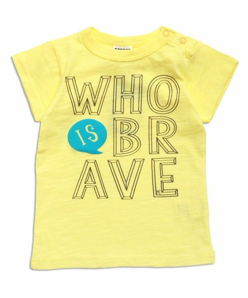 BREEZE(ブリーズ)の「ネット限定3柄6色Tシャツ(Tシャツ/カットソー)」|イエロー