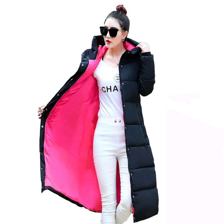 L-4XL 2016 New Winter Jacket Women Hooded Thicken Coat Female Warm Outwear Cotton-Padded Long Wadded  Down Coat Parka YC643