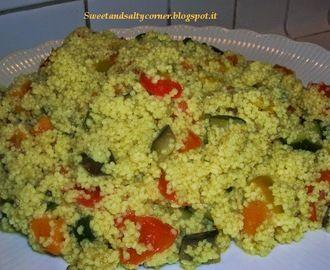 Cous cous al curry con verdure