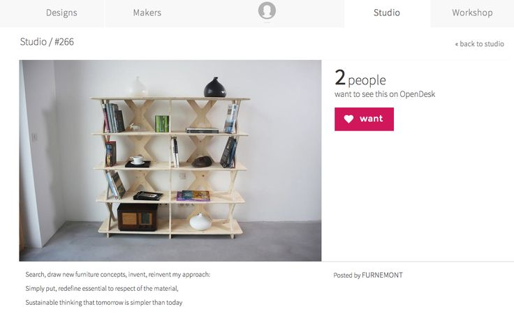 1010 SHELF SYTEM is now on OpenDesk : https://www.opendesk.cc/open/studio/266Vote for my project it's free :)  share, speak about to your friend  and let's go !  :) #étagère #shelf #shelfsystem #bibliothèque #mobilier #meuble  #furniture