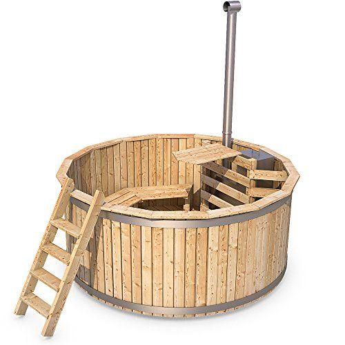 wooden hot tub outdoor bath barrel jacuzzi garden swimming. Black Bedroom Furniture Sets. Home Design Ideas