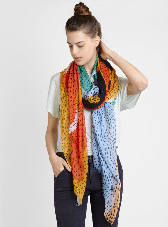 Couverture and The Garbstore - Womens - Karakoram - Patterned Scarf