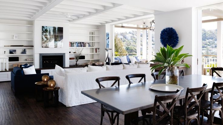 The interiors are elegantly decorated in Hamptons style. Whale Beach, New South Wales. Go to ContemporaryHotels.com.au.