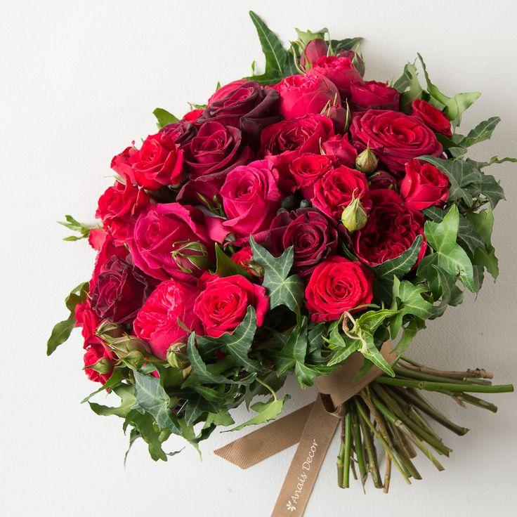 Μπουκέτο κόκκινα τριαντάφυλλα