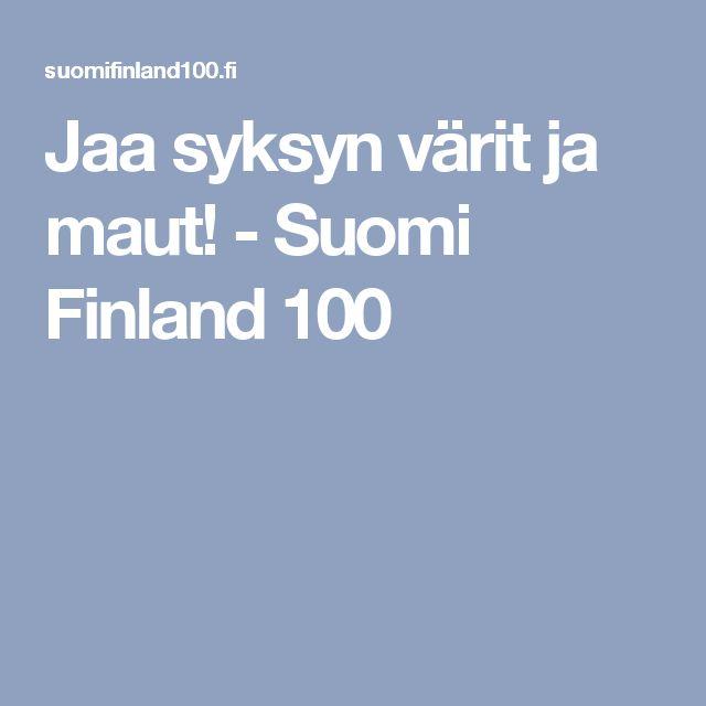 Jaa syksyn värit ja maut! - Suomi Finland 100