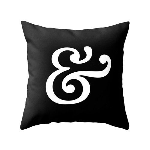 Hey, I found this really awesome Etsy listing at https://www.etsy.com/listing/198301343/ampersand-pillow-cover-black-pillow