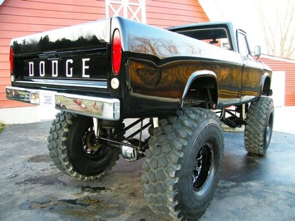 1967 dodge sweptline 4x4 monster truck for sale rear dream vehicles pinterest dodge. Black Bedroom Furniture Sets. Home Design Ideas