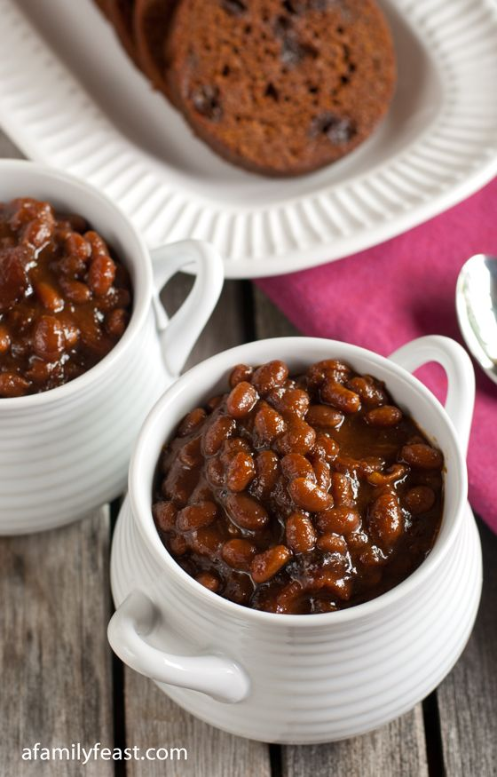 Boston Baked Beans _ Today we're sharing our own 'secret family recipe' for Boston Baked Beans!  This is a recipe that Jack has perfected over the years and it's so much better than any canned baked beans you can buy.