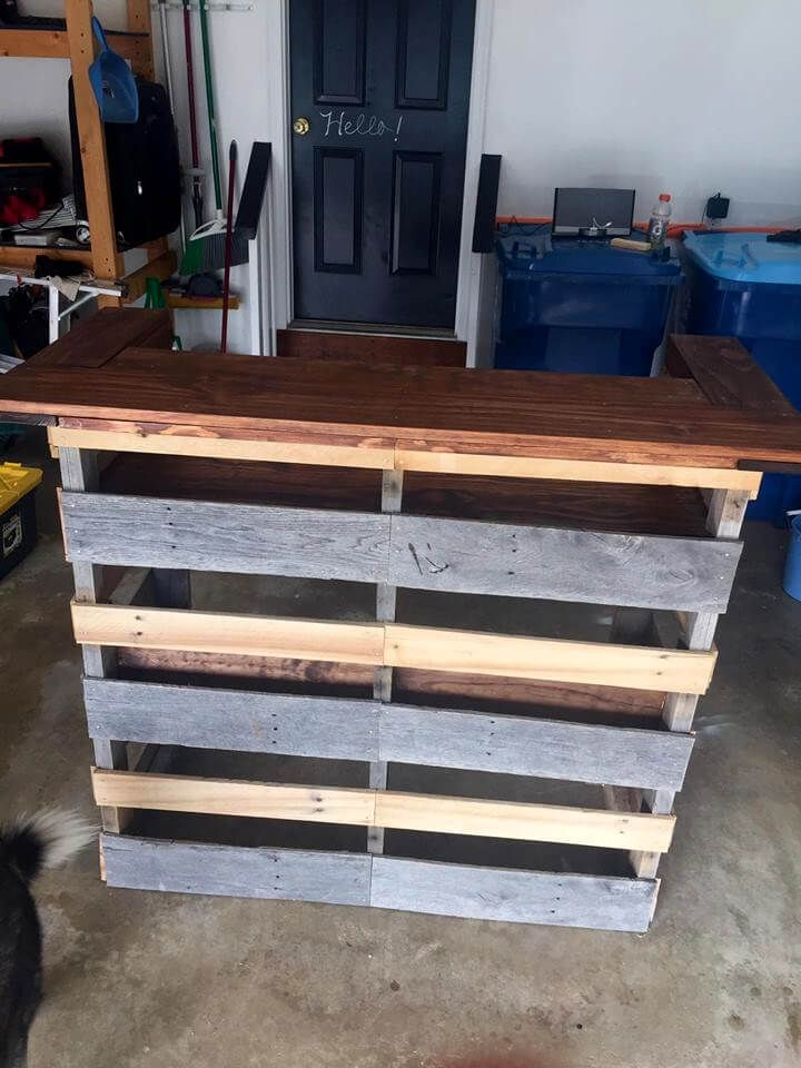 Build A Pallet Bar Step By Step Instructions Pallet