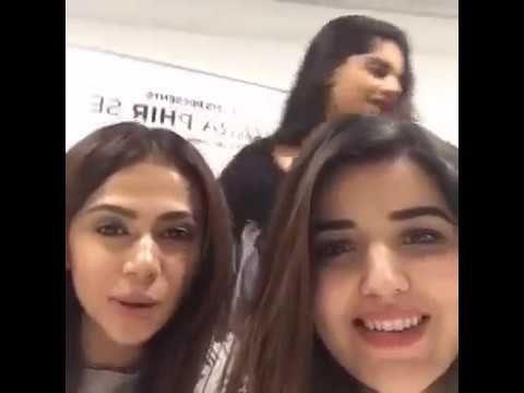 Hareem farooq with Sanam Saeed is live Omg she is so cute.  2016
