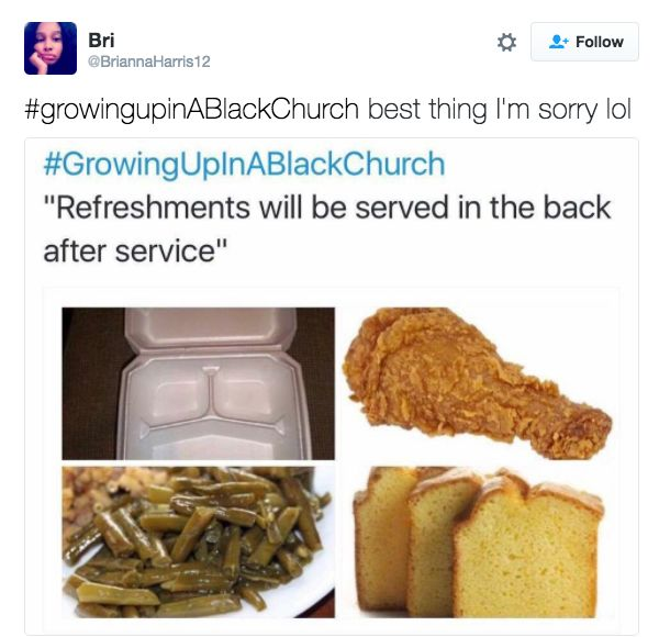 Everyone knows though, that this is probably the best part. | 23 Things Anyone Who's Ever Been To A Black Church Will Immediately Recognize