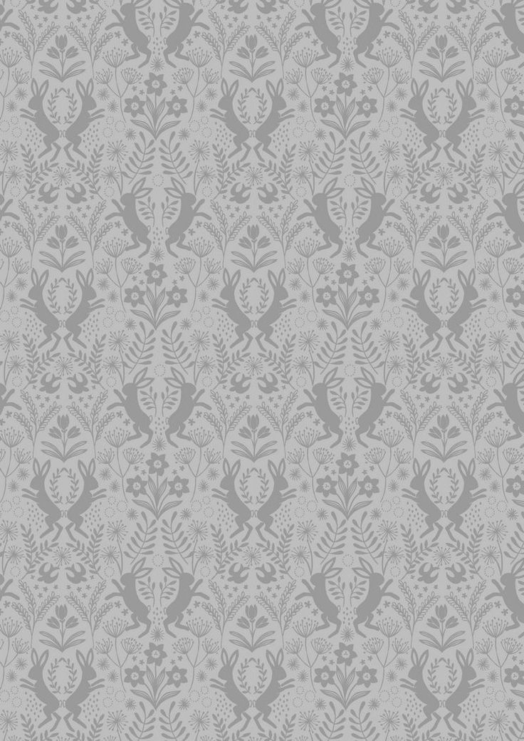 A64.6 - Little Hares Dark Grey On Grey from Salisbury Spring