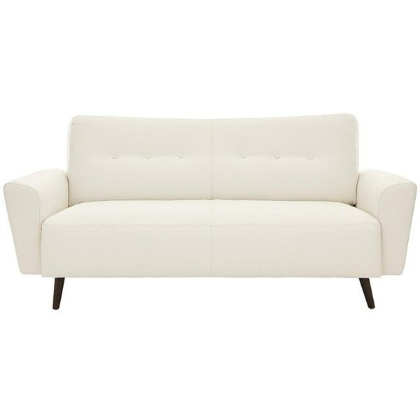 drew 2seater faux leather sofa found on polyvore featuring home furniture sofas