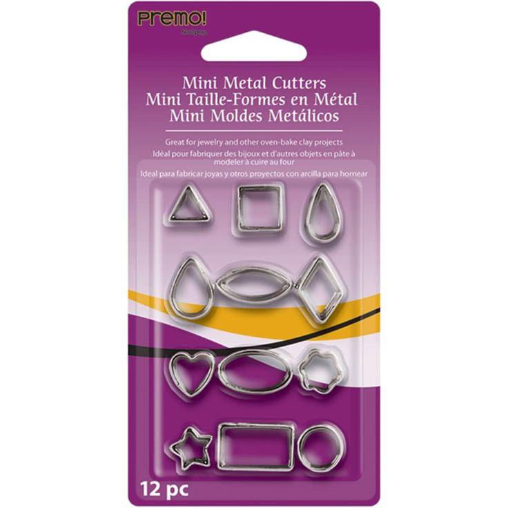 Polyform Premo Sculpey Mini Metal Cutters 12/Pkg-Geometric - geometric