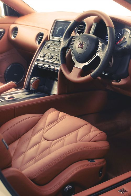 Here's your Car Porn of the Day: interior shot of Nissan GTR.
