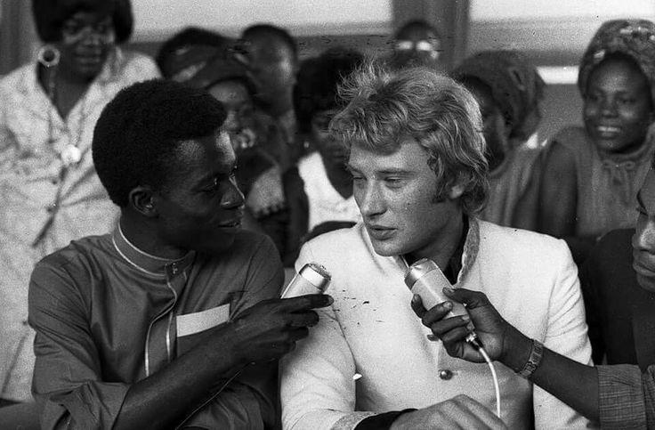 Johnny Haliday à Kinshasa. 1967.